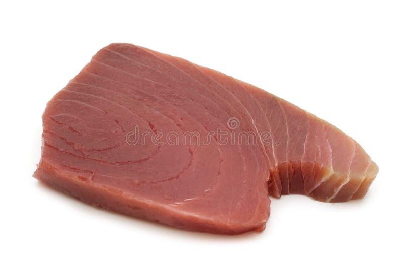 Bifes crus do atum fotografia de stock