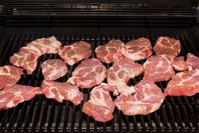 Bifes da carne de porco do churrasco imagem de stock royalty free