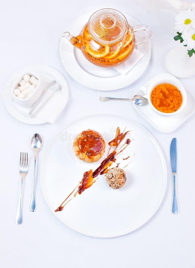 Biffin, crème-brulée, gelato infornato, fotografia stock libera da diritti