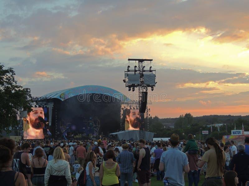 Biffy Clyro przy wyspą Wight festiwal zdjęcia stock