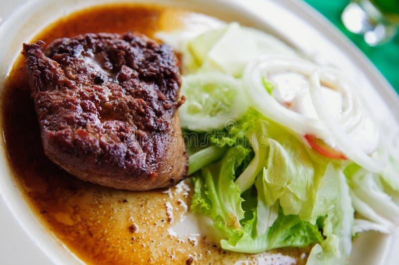 Bifteck avec le légume photo libre de droits