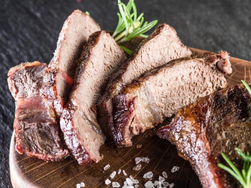 Bifteck bien fait Ribeye photo stock