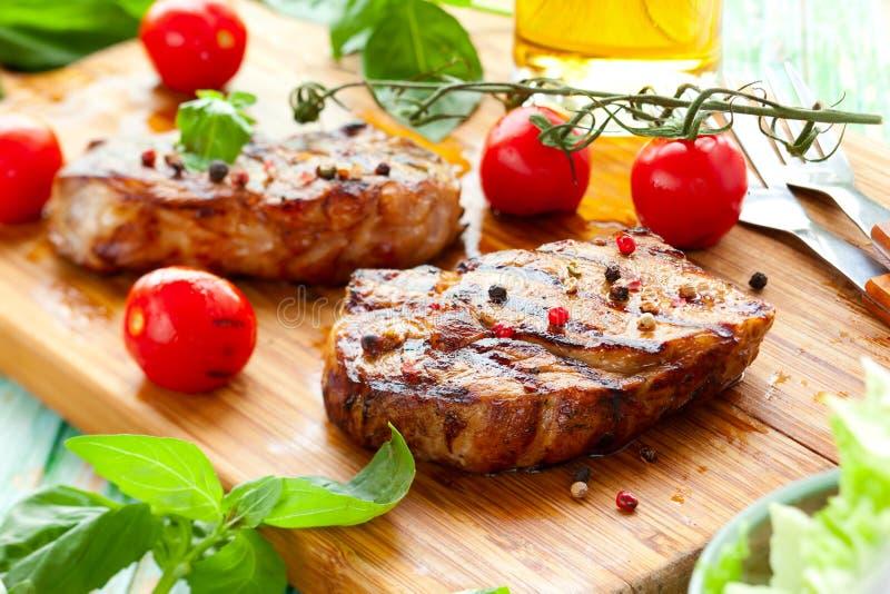 Bifteck d'échine de veau photo stock