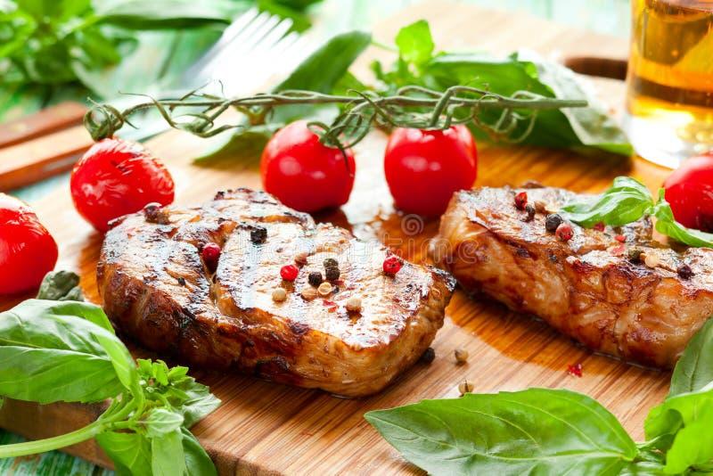 Bifteck d'échine de veau photos stock