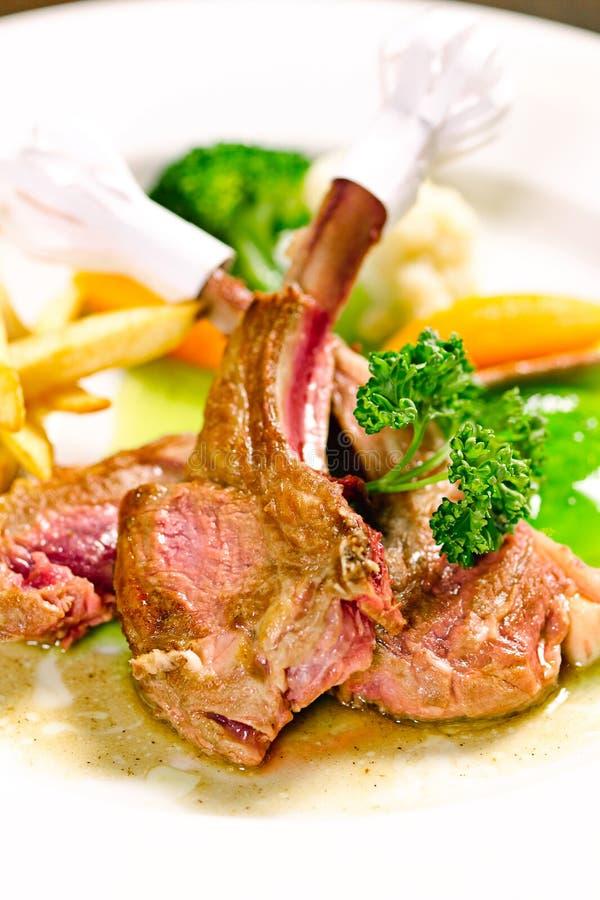 Bifteck d'agneau photo stock