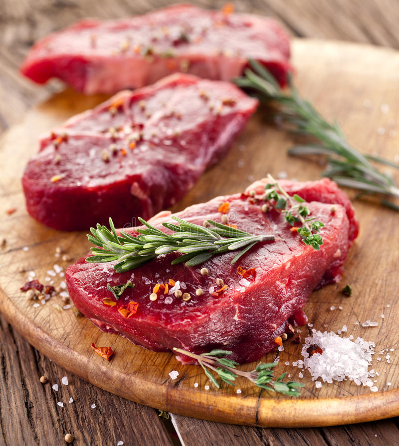 Bifteck de boeuf. photographie stock