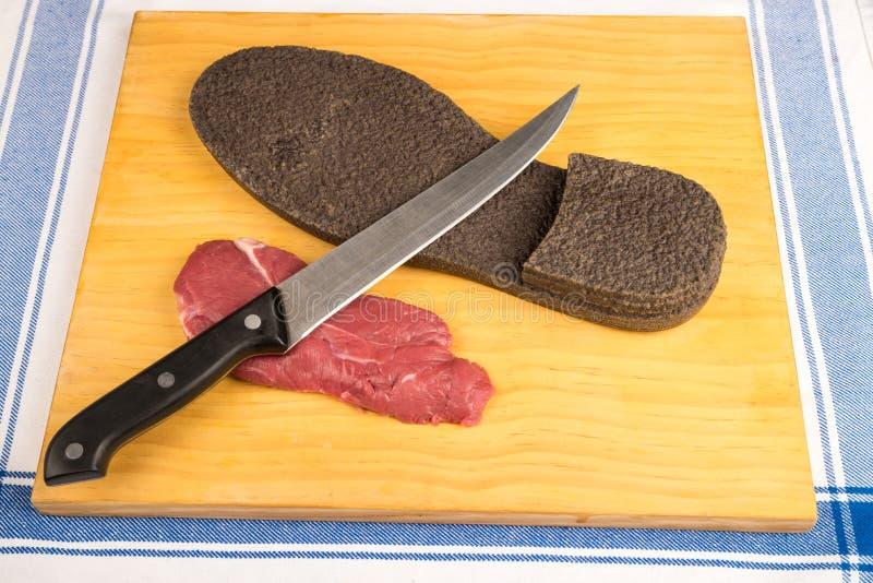Bifteck de boeuf dur photo stock