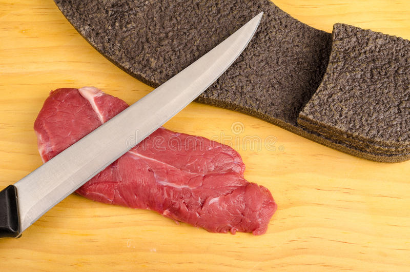 Bifteck de boeuf dur image stock