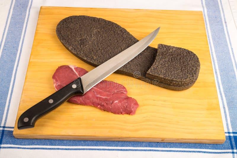 Bifteck de boeuf dur photos stock