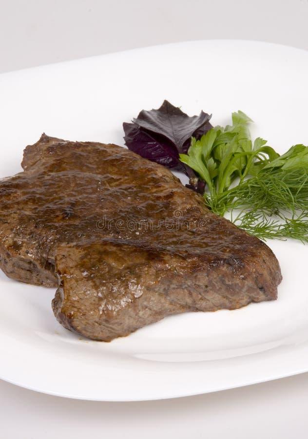 Bifteck de boeuf frit images stock