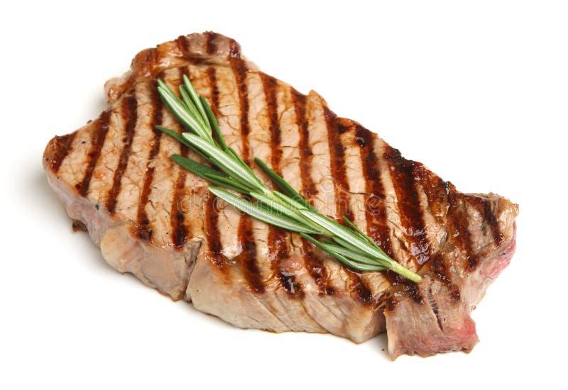 Bifteck de boeuf grillé d'aloyau photos libres de droits