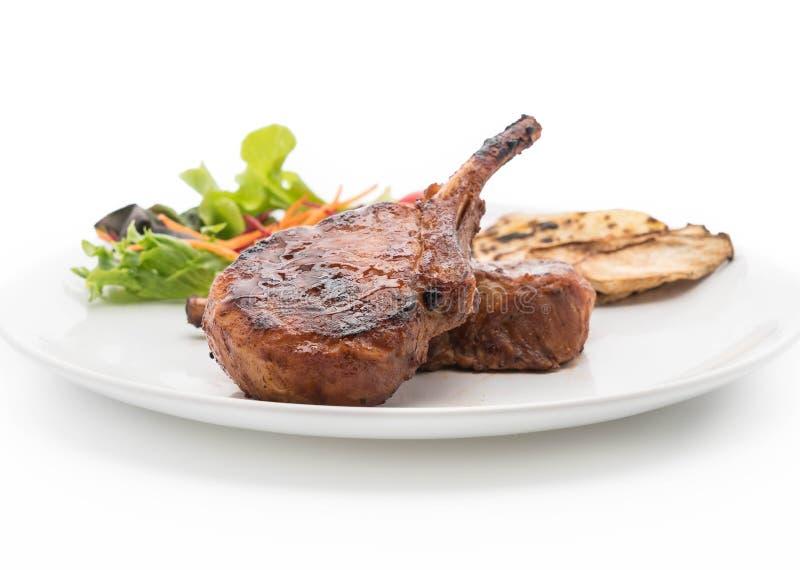 Bifteck de côtelette de porc images libres de droits