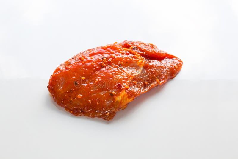 Bifteck de gril rare en marinade image stock