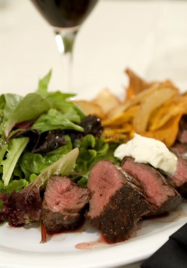 Bifteck de jupe grillé 2 images libres de droits