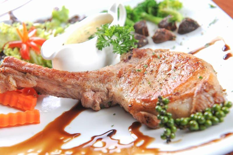Bifteck de porc de barbecue image stock