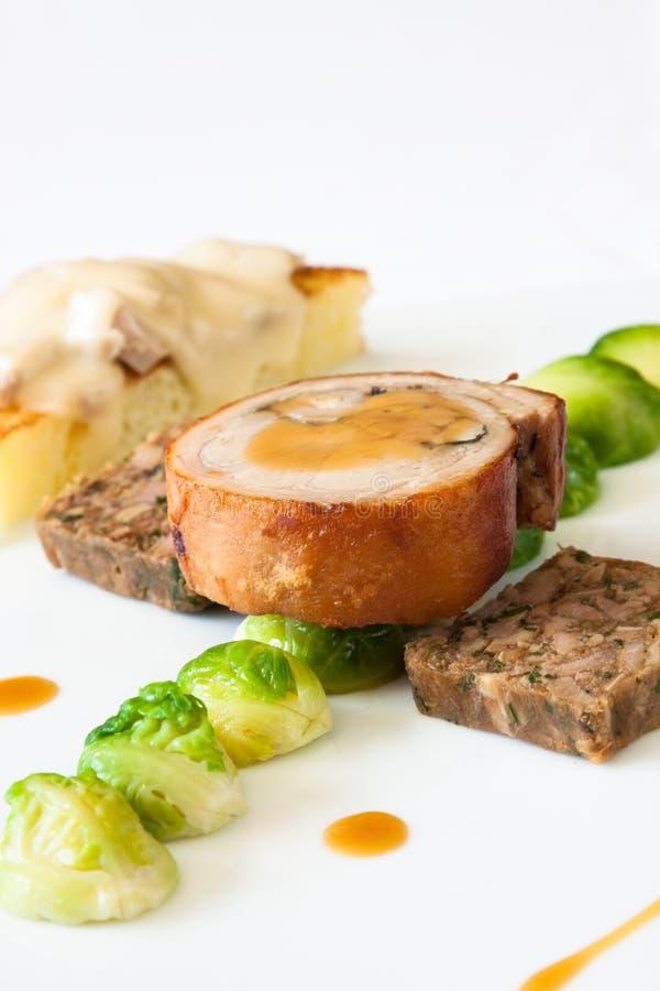 Bifteck de porc de nourrisson photographie stock libre de droits