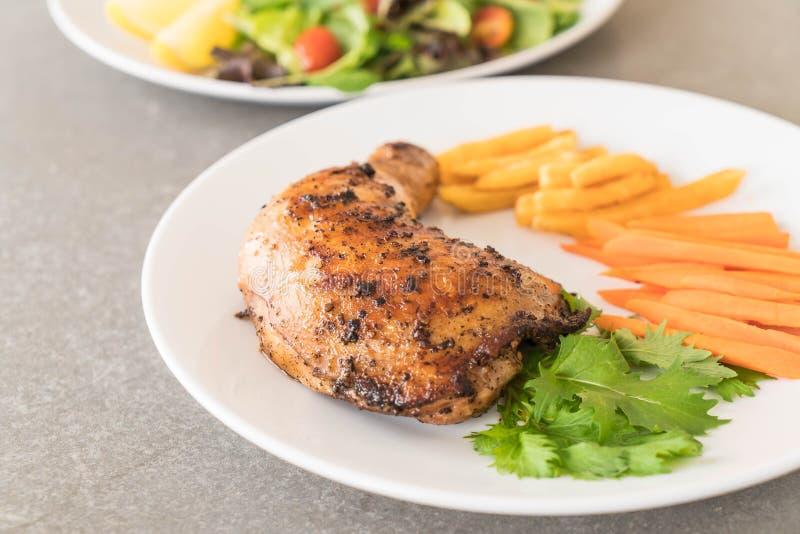 bifteck de poulet de cuisse image stock
