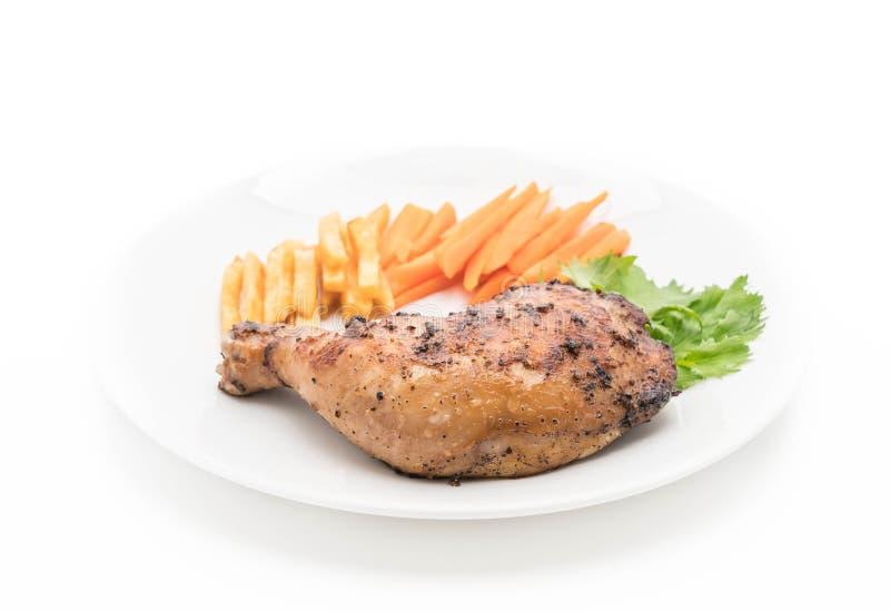 bifteck de poulet de cuisse photo libre de droits