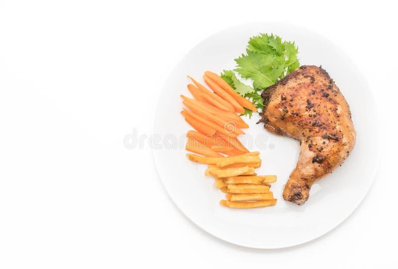 bifteck de poulet de cuisse images libres de droits