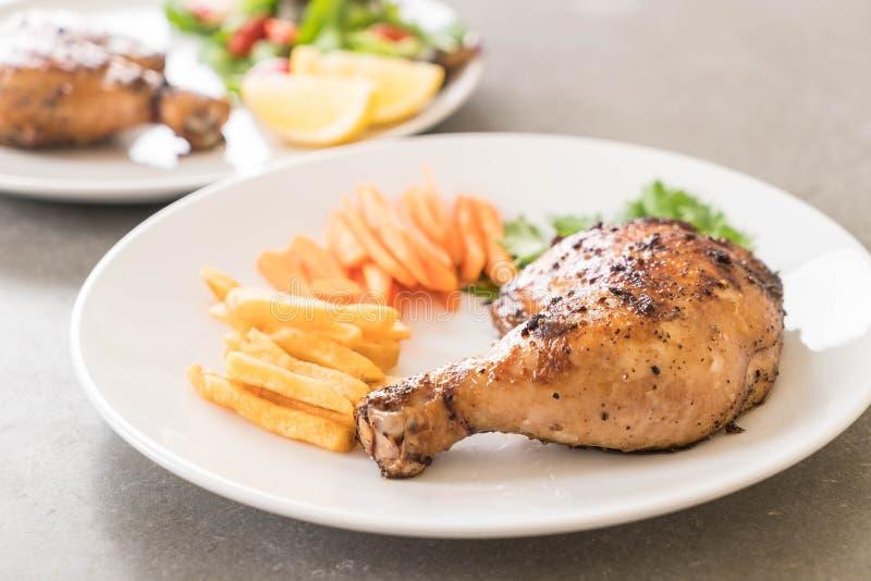 bifteck de poulet de cuisse image libre de droits