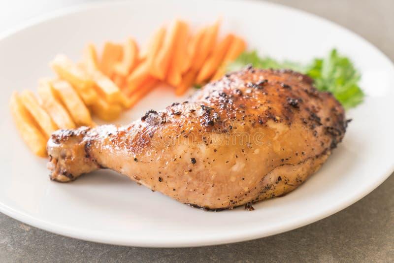 bifteck de poulet de cuisse photos libres de droits