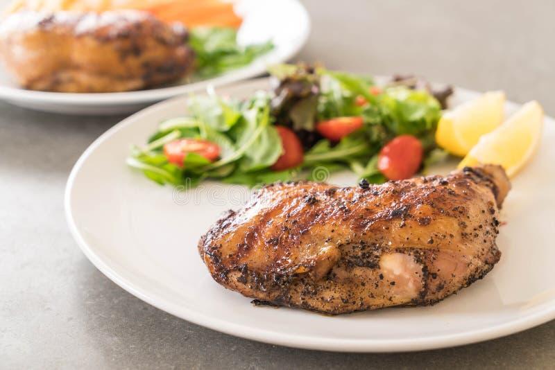 bifteck de poulet de cuisse images stock