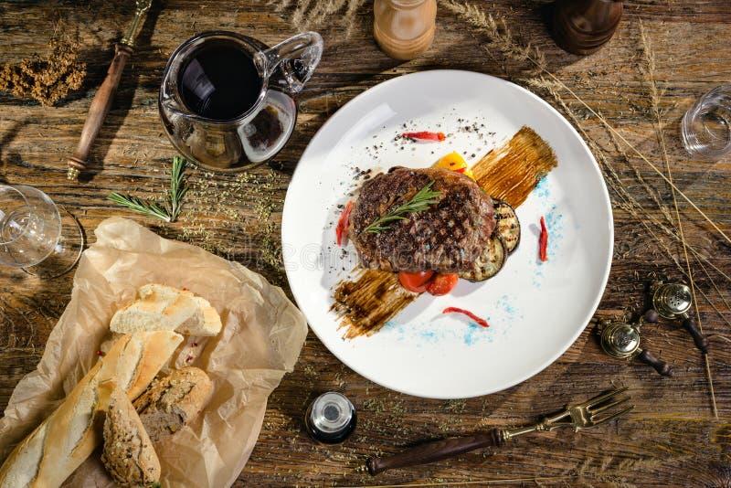 bifteck de Ribeye d'Angus-boeuf images stock