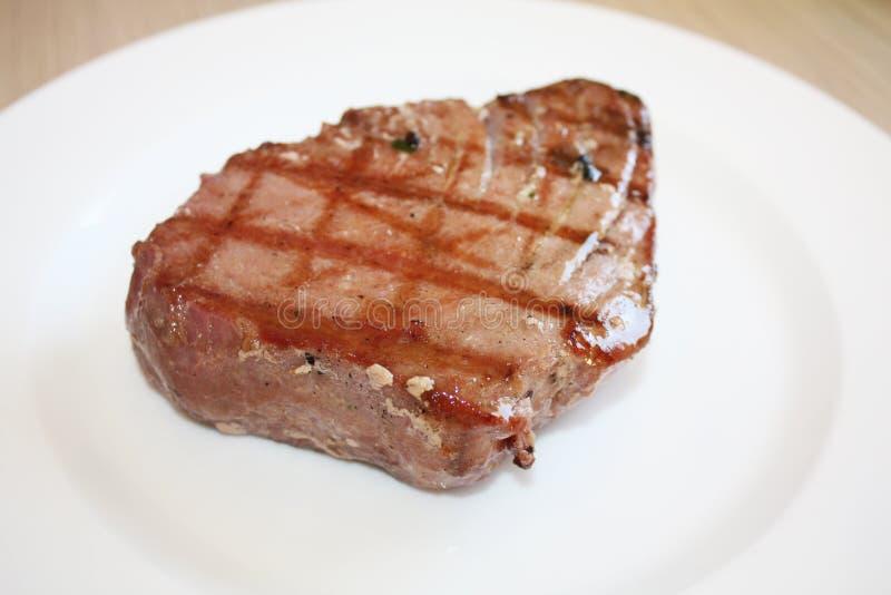 Bifteck de thons grillé image libre de droits