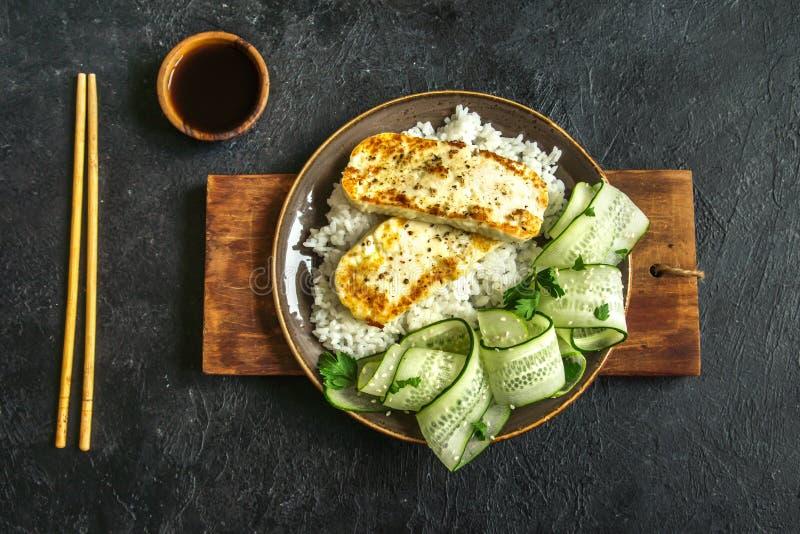 Bifteck de tofu photographie stock