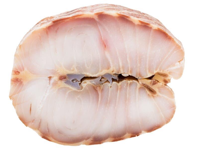 Bifteck des poissons étoilés fumés chauds d'esturgeon d'isolement image stock