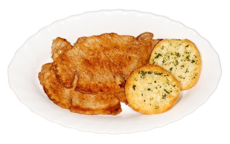 Biftecks grillés d'échine photographie stock