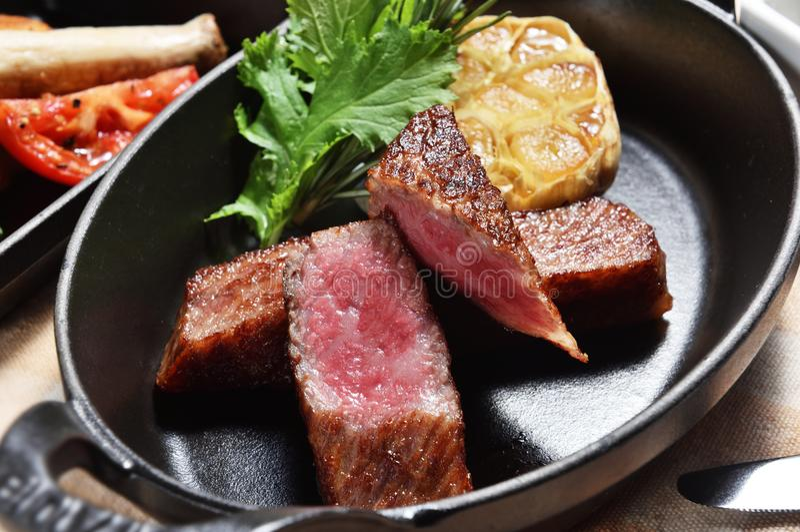 Biftek grillé images stock