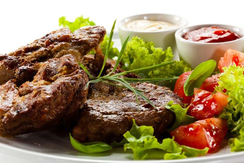 Bifteks grillés photographie stock libre de droits