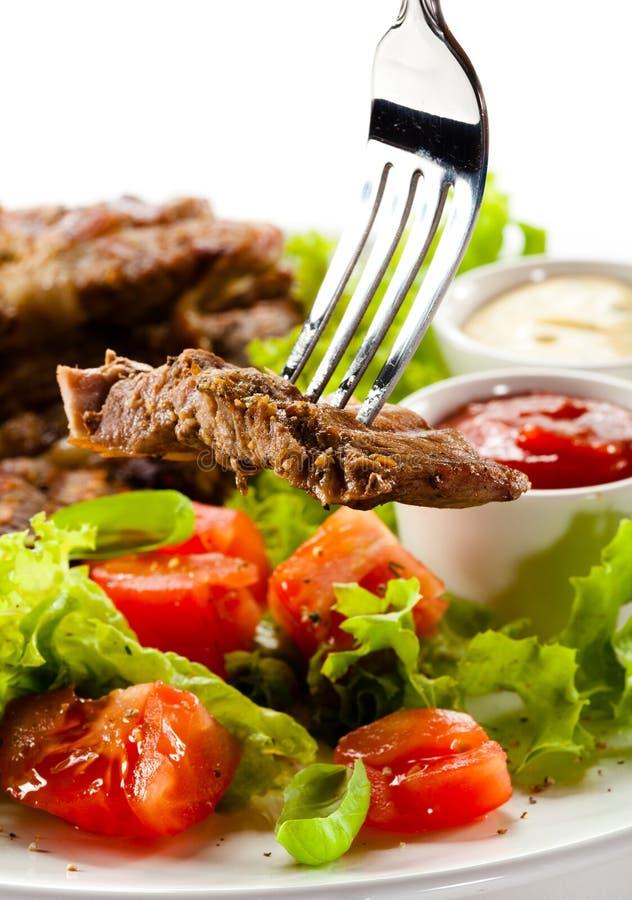 Bifteks grillés image libre de droits