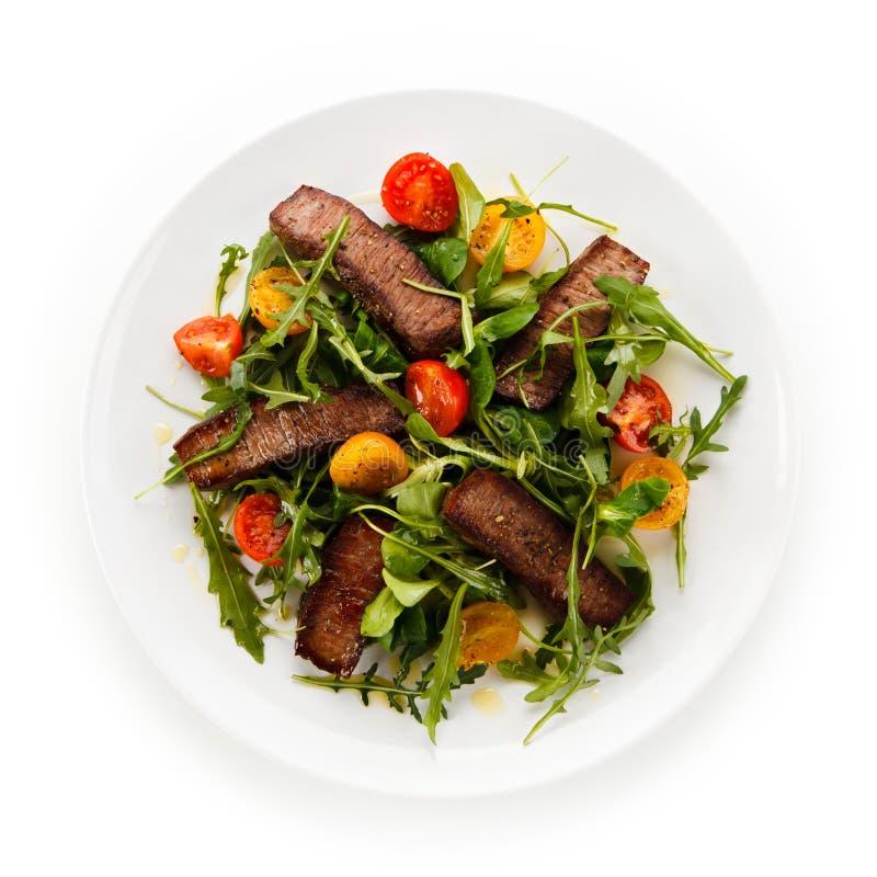 Bifteks grillés avec des légumes photo libre de droits