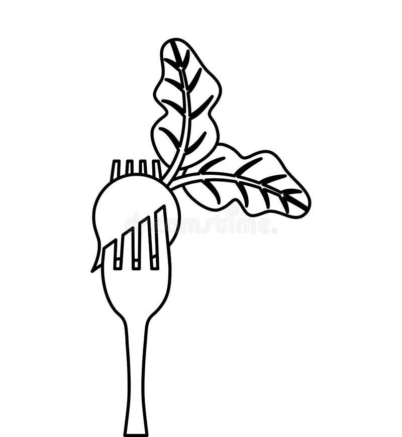 bifurcación con el icono vegetal libre illustration