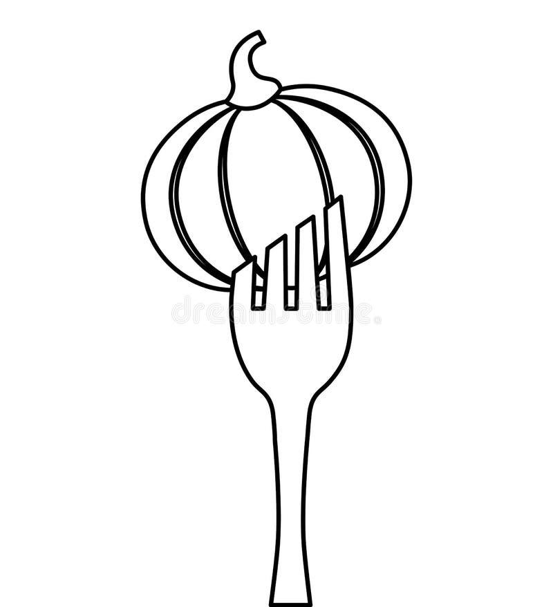 bifurcación con el icono vegetal ilustración del vector