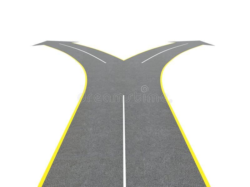 Bifurcación del camino stock de ilustración