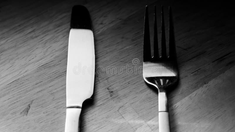 Bifurcación y cuchillo imagenes de archivo