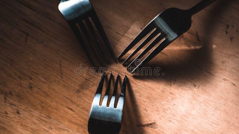 Bifurcación y cuchillo fotos de archivo libres de regalías