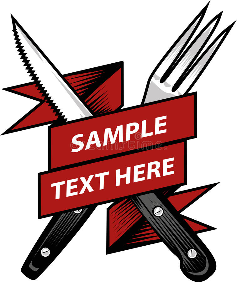 Bifurcación y cuchillo stock de ilustración