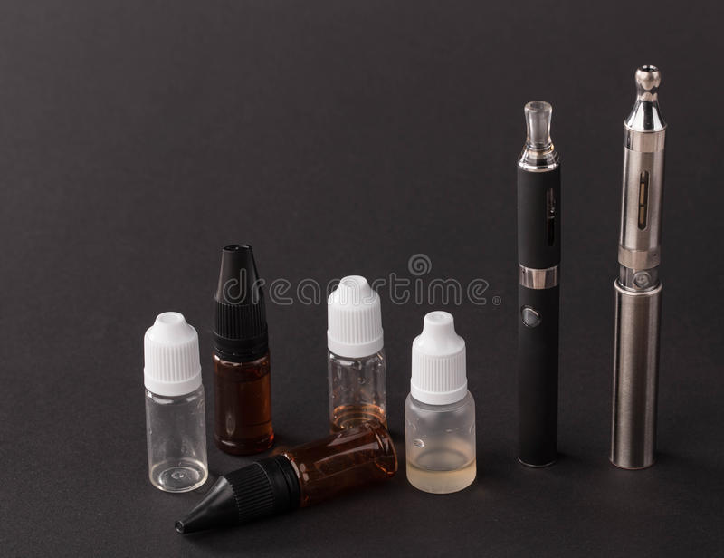 Big advanced electronic cigarette. stock images