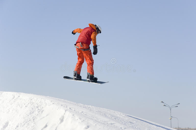 Big air training royalty free stock images