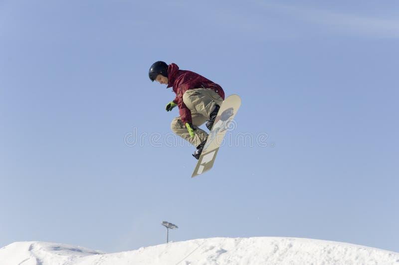 Big air training of Stolitsa skiing school stock image