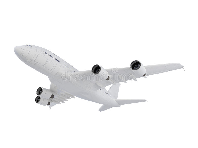 Big Airplane royalty free stock images