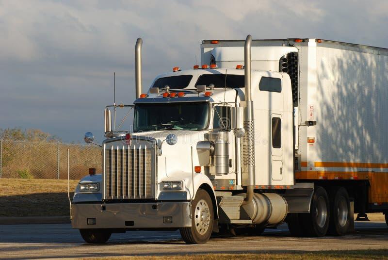 Big American Truck. A Big American Semi Truck royalty free stock photo