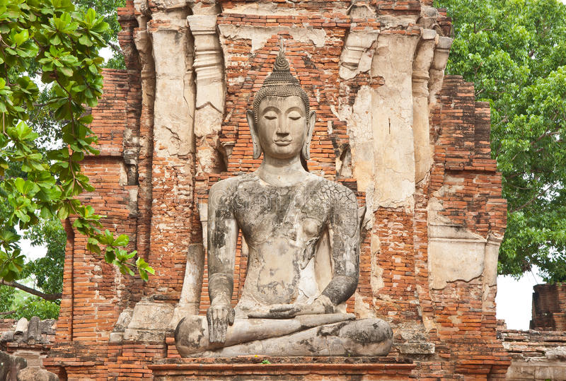 The Big Ancient Buddha Statue Stock Photography