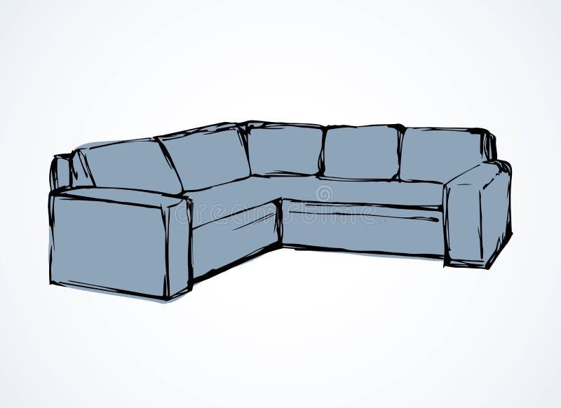 Sofa. Vector drawing vector illustration