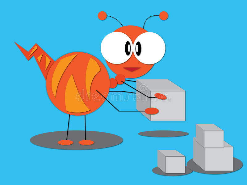 A Big Ant Stock Vector  Illustration Of Alone  Creature