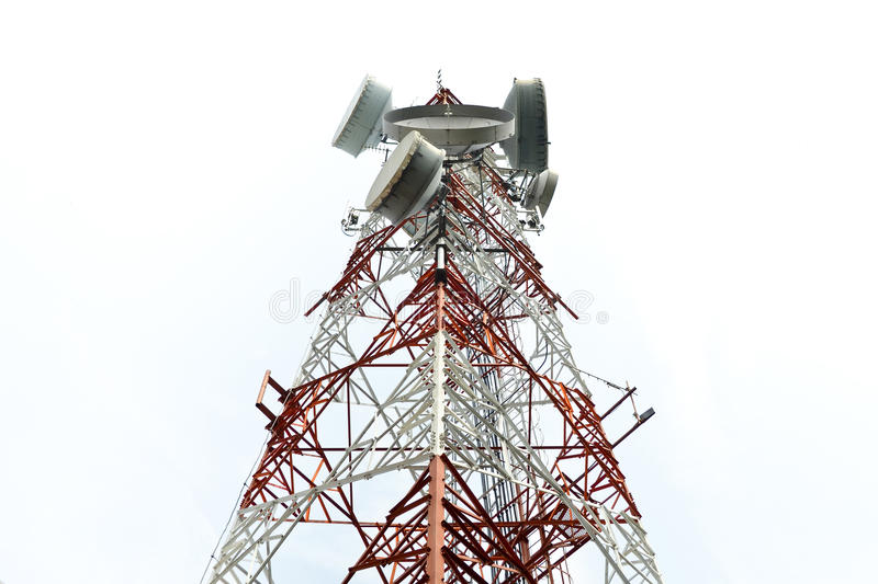 Download Big Antenna Communication Tower Technology Stock Photo - Image of receiver, microwave: 28530294